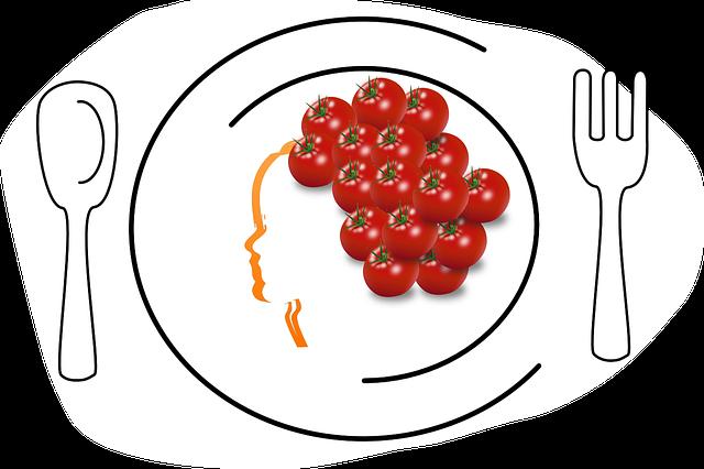 červené rajčátka
